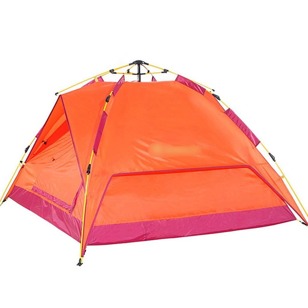 YaNanHome Zeltsonnenschutzzeltzelt des Zeltes im Freienzelt des Zeltes des Zeltes 2-3 des Zeltes der Wilden Wilden Freien Zeltfamilie (Farbe : Orange, Größe : 210  180  120cm)
