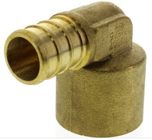 5/8'' PEX x 3/4'' Copper Pipe Brass Elbow (Lead Free) {PXSL3458-NL}
