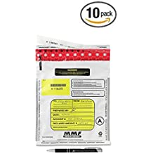 10 Pack MMF Industries 2362010N06 9-by-12-Inch Tamper-Evident Deposit Bags, (White) with Bonus Custom AdvantageOP Black and Chrome Pen