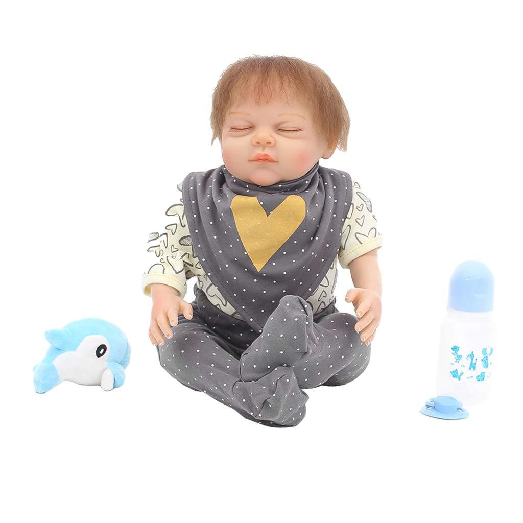 KESOTO Adorable Molde de Muñeca Bebé Niño Renacida Silicona Completa 20- 22 Pulgadas - 20 Pulgadas