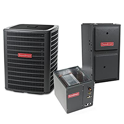 4 Ton 14.5 SEER 100k BTU 96% AFUE 2 Stage Variable Speed Goodman Central Air Conditioner & Gas Split System - Downflow