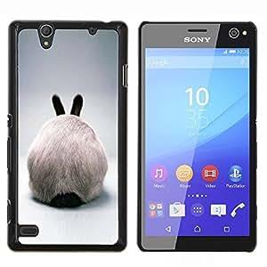 Stuss Case / Funda Carcasa protectora - Rabbit Ears Hare conejito blanco peludo gris - Sony Xperia C4