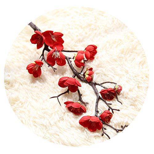 Artificial Flowers DIY Silk Fake Flowers Plum Blossom Floral Wedding Bouquet Home Decor Bouquet Flores Mariage Fake Flower -