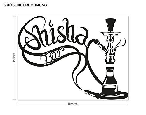 Klebefieber Wandtattoo Shisha-Bar B x x x H  100cm x 75cm Farbe  Schwarz B0722QYX4G Wandtattoos & Wandbilder 4537b9
