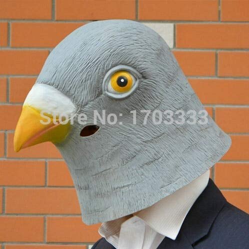 Pigeon Mask - Pigeon Mask Creepy Halloween Animal Costume Theater Prop Novelty Latex Rubber Party Dhl Fedex Free - Kids Toys Head For Adults]()