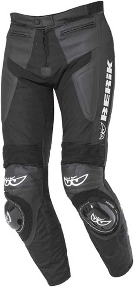BERIK Brands Hatch - Pantalones de cuero (talla 50)