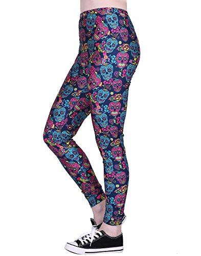 Theme Pants - Women's Leggings Graphic Print Tights Fun Digital Design Holiday Elastic Pants