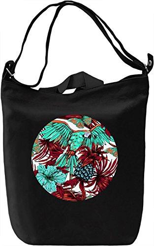 Tropical View Borsa Giornaliera Canvas Canvas Day Bag  100% Premium Cotton Canvas  DTG Printing 