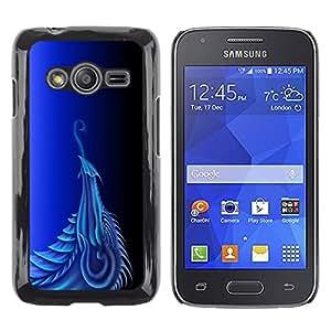 Shell-Star Arte & diseño plástico duro Fundas Cover Cubre Hard Case Cover para Samsung Galaxy Ace4 / Galaxy Ace 4 LTE / SM-G313F ( Blue Dragon )