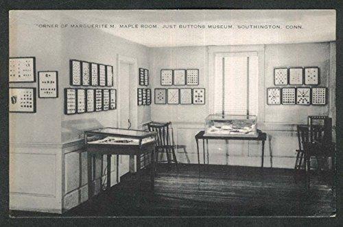 Marguerite M Maple Room Just Buttons Museum Southington CT Postcard 1920s