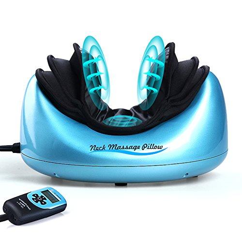 Massage Cervical - JoySmile Shiatsu Pillow Massager Neck Massage Pillow Airbag Massage With Heat Power Adapter Battery Operated Kneading Shiatsu Massager