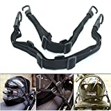 Patty Both 2 Pcs Motorcycle Helmet Luggage Rope Bungee Cord Bandage Strapping Tape Elastic Strap with 2 hooks, Black