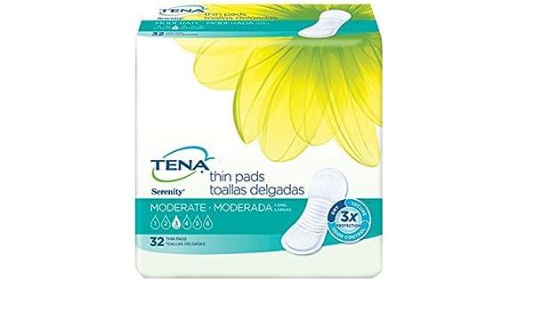 Amazon.com: TENA Serenity Thin Pads, Moderate Absorbency Long by Tena Slip: Health & Personal Care