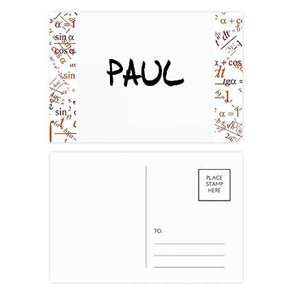 Amazon.com   Special Handwriting English Name PAUL Formula Postcard ... bce4e9060