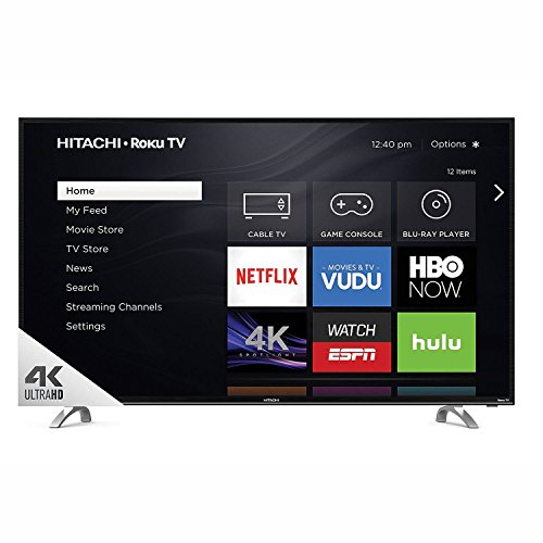"Hitachi 55"" Class 4k UHD HDR TV with Roku TV - 55R80"