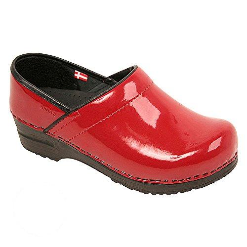 Sanita Women's Professional Patent Clog, Red, 39 Medium EU (8-8.5 US) (Clog Red Patent)