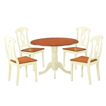 Magnificent Amazon Com Ghy Dine Table Set Buttermilk And Cherry Asian Spiritservingveterans Wood Chair Design Ideas Spiritservingveteransorg
