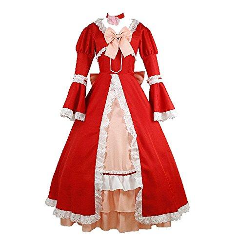 LYLAS Women's Halloween Anime Red Dress Cosplay Costume (Costom Made)