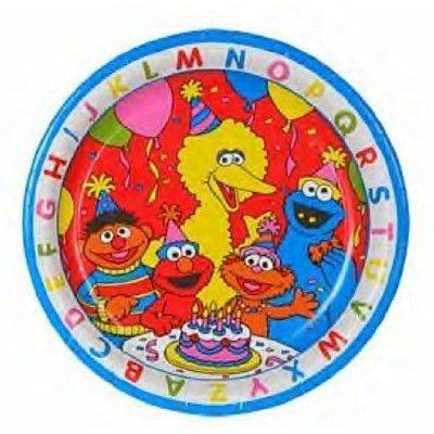 Sesame Street ABC Dessert Party Plates 8 - Sesame Street Dinnerware Shopping Results