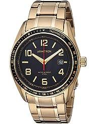 Armitron Mens 20/5252BKGP Solar Powered Date Calendar Dial Gold-Tone Bracelet Watch