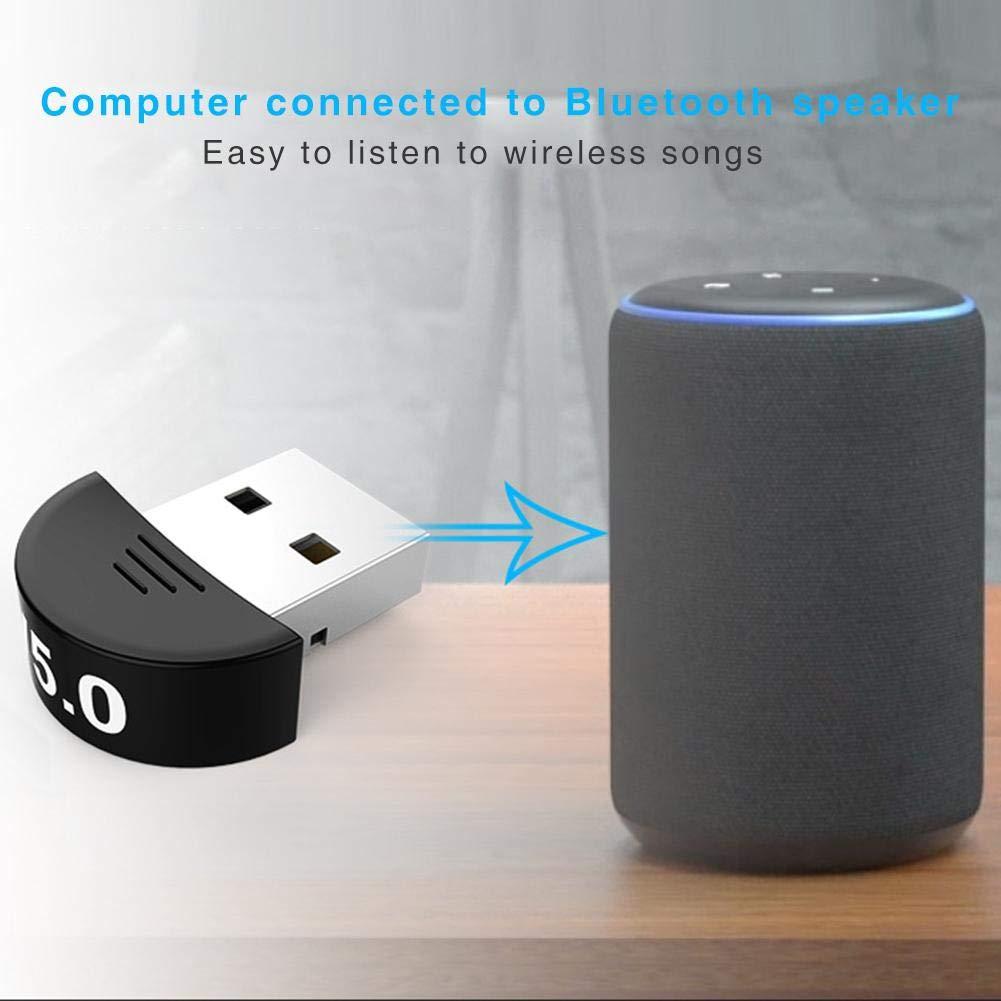 Brownrolly 2 In1 USB Bluetooth 5.0 Adattatore per Ricevitore Adattatore per trasmettitore Non /è Necessario Guidare linstallazione per TV//PC Cuffie Altoparlante Mouse Tastiera Stampante Gampad