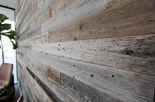 Epic artifactory diy reclaimed barn wood wall easy peel for Where to find reclaimed wood for free