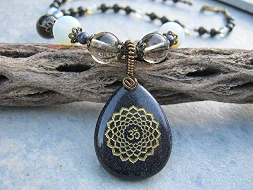 Handmade Necklace Goldstone - 21