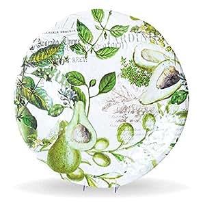 Michel Design Works Avocado Large Round Platter