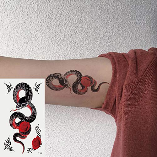 Oottati Small Cute Temporary Tattoos Stickers snake (2 Sheets)