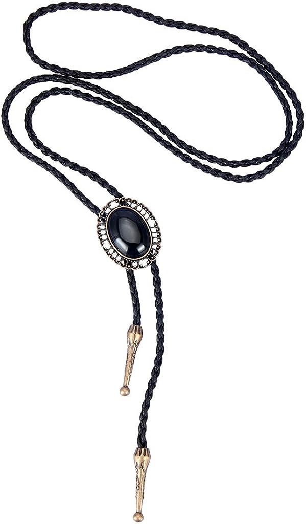 Coolla Bolo Krawatte, handgefertigt, runde Form, Western Cowboy, schwarz, Vintage Türkis, Anhänger für Damen, Herren