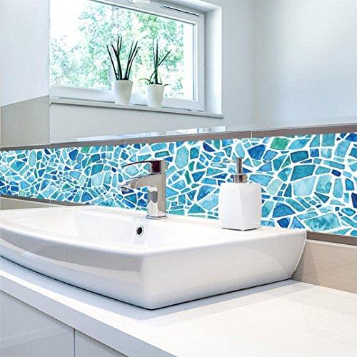 1Roll Self Adhesive Tile Art Wall Decal Sticker DIY Kitchen Bathroom Decor Vinyl (B)