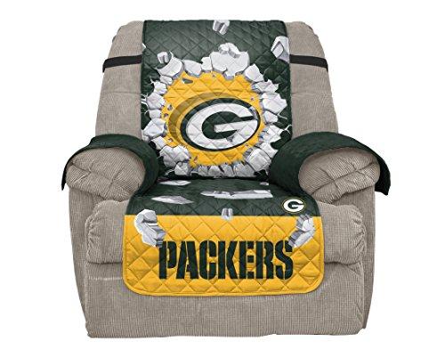 Pegasus Sports NFL Green Bay Packers Unisex Nflnfl Furniture Protector, Explosion Design, Dark Green, Recliner
