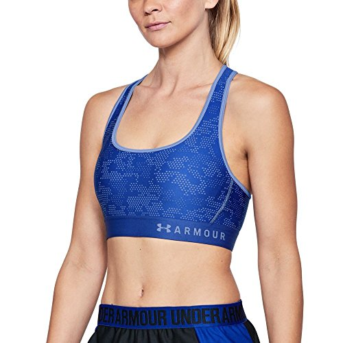 Under Armour Women's Armour Mid Crossback Patterned Sports Bra