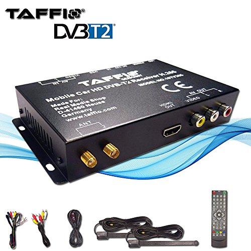 TAFFIO Universal CAR DVB-T2 H.265 HD DIGITAL RECEIVER MPEG2 MPEG4 240 km/h TV Signal