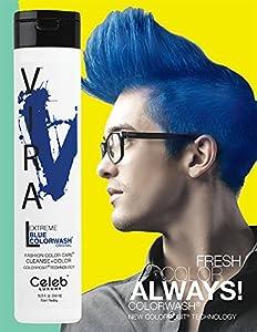Celeb Luxury Viral Color Wash Shampoo, Extreme Blue, Citrus Bloom, 8.25 fl. oz.