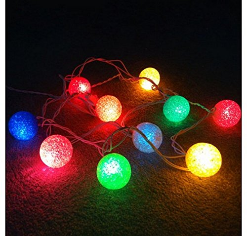 GMY Lighting Imports® 10 EVA Ball Light String Strip 120V 96W Christmas Patio Garden Holiday Party Indoor or Outdoor Lighting Multi Colored
