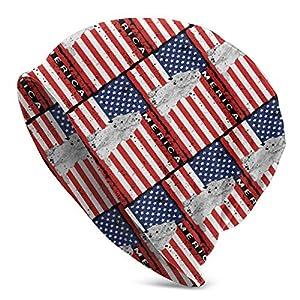 Patriotic English Cocker Spaniel USA Flag Unisex Knit Hat Soft Stretch Beanies Skull Cap Hedging Cap,Beanie Hat 2