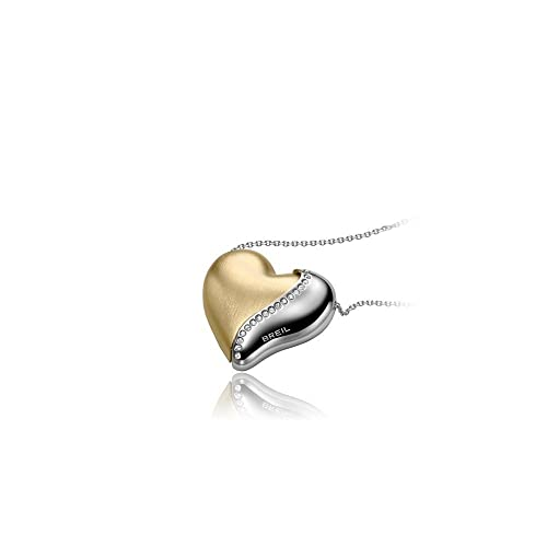 negozio online 15e27 beec4 BREIL HEARTBREAKER TJ1552 Collana Lunga con Cuore Swarovski Gold Dorato,  Acciaio