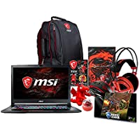 MSI GE73 Raider-008 17.3 Gaming Laptop - Intel Core i7-7700HQ, NVIDIA GTX 1050 Ti, 16GB DDR4 RAM, 1TB SSD, Win10 Home + Gaming Bundle