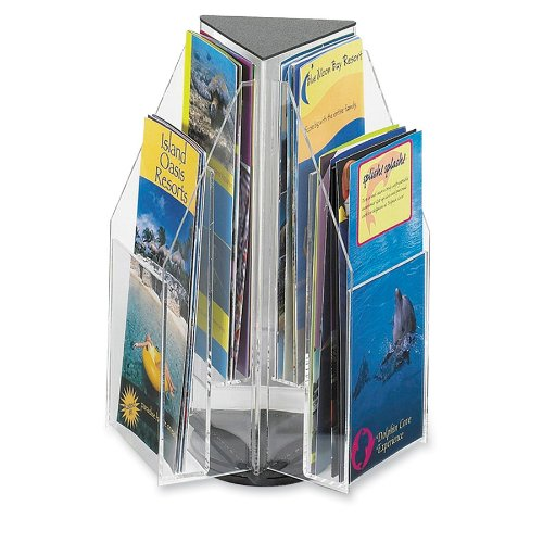 Safco Plastic Tabletop Display, 6 Pamphlets, Triangle, 9.5 Inches Width x 12.5 Inches Height, Clear (5697CL) Safco Products