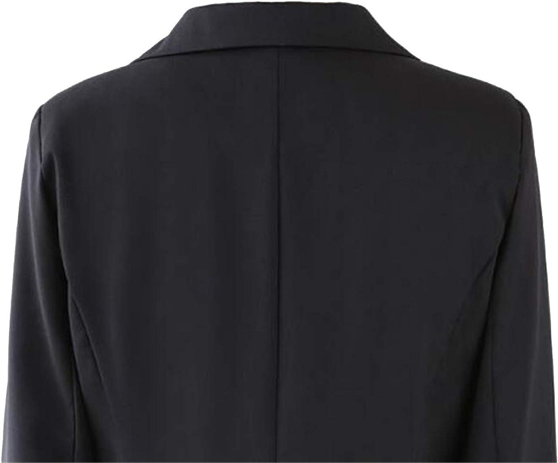 FSSE Womens Casual Blazer Jacket Coat Ruched Slim Jacket Coat Overcoat Outerwear