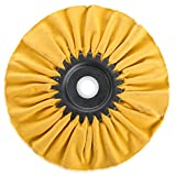 Woodstock D3193 Bias Hard Buffing Wheel, 6-Inch by 5/8-Inch Hole (Yellow)