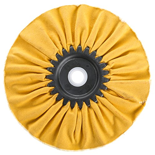 Woodstock D3193 Bias Hard Buffing Wheel, 6-Inch by 5/8-Inch Hole, Yellow