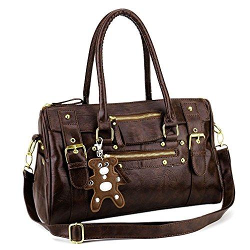 Poplife Ladies Women's Handbag Designer Satchel Collage Shoulder Bag Large Shopping Tote