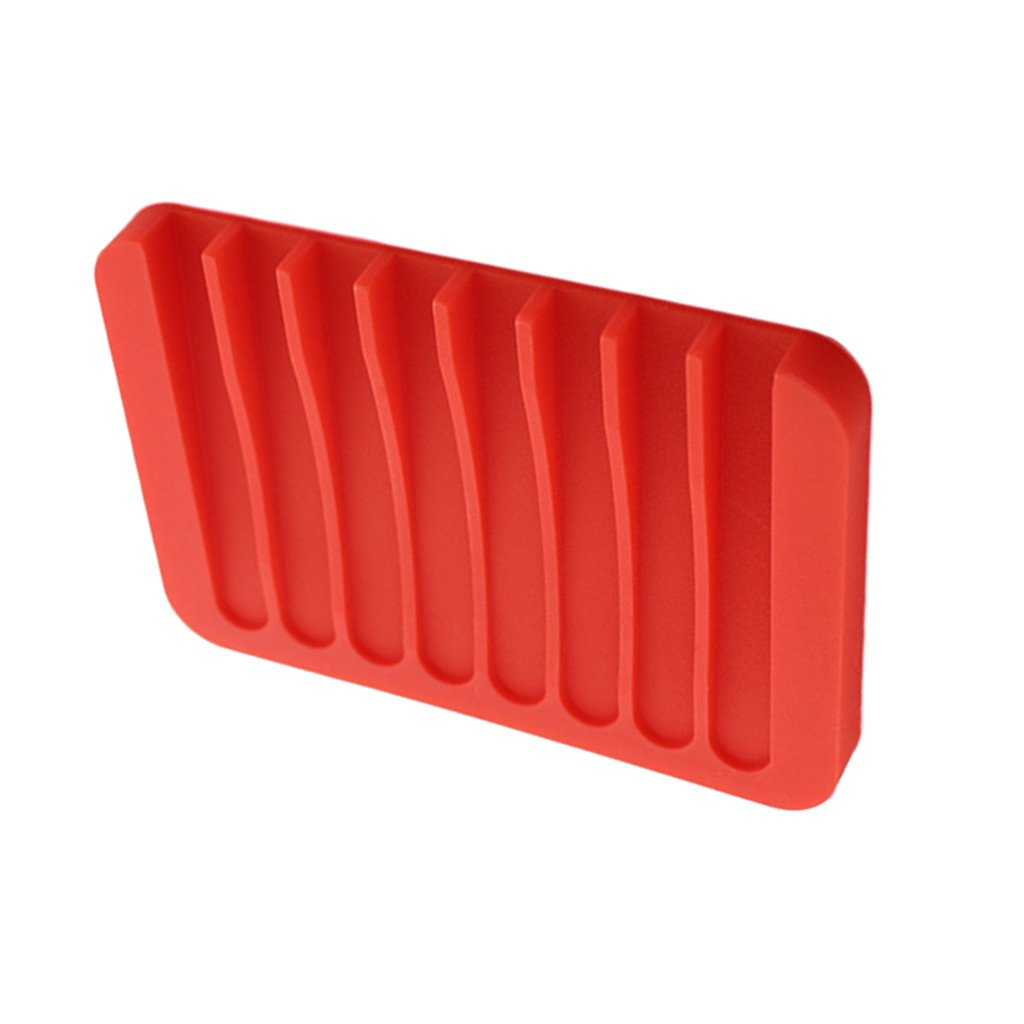 Fityle Silicone Comb Soap Holder Soap Tray Leak-Proof Dish Drain Layer Flexible Sponge Soap Holder Kitchen Sink - Grey