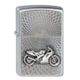 ZIPPO MOTORBIKE EMBLEM BRUSHED CHROME LIGHTER (2000225)