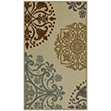 Maples Rugs Kitchen Hazel 1'8 x 2'10 Non Skid Washable Throw Rugs [Made in USA] for Entryway and Bedroom, 2 x 3, Multi Review