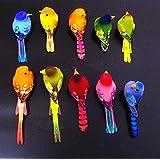 URToys 10Pcs 6-10CM Multi Colors Decorative Artificial Foam Mini Love Birds With Magnet Bird Ornaments Home DIY Craft For Wedding Decoration Party Accessories
