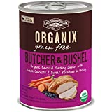 Organix Butcher and Bushel Organic Carved Turkey Dinner with Fresh Carrots and Sweet Potatoes Dog Food, 12.7-Ounce, For All Breeds (Pack of 12)