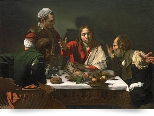 The Supper at Emmaus, 1601, by Caravaggio (Giclee Art Print), The Fine Art Masters